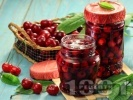 Рецепта Домашно сладко от вишни или череши с желатин (зимнина)